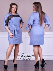 Платье короткое с кружевом Ч0075
