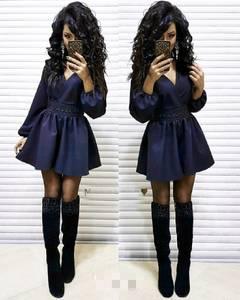 Платье короткое с длинным рукавом Ч0056