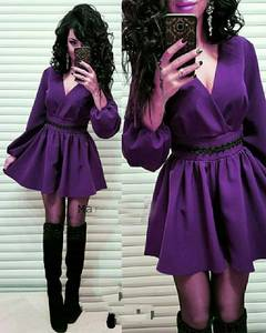 Платье короткое с длинным рукавом Ч0057