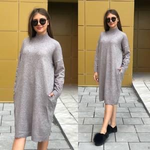 Платье короткое однотонное Ч8396