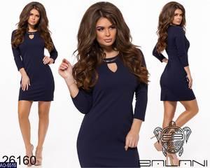Платье короткое однотонное Ч0097