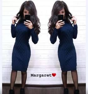 Платье короткое с длинным рукавом А54759