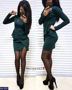 Платье короткое с длинным рукавом Ч0110
