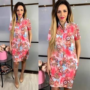 Платье короткое с принтом Ч5081