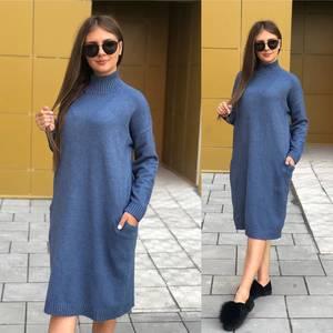 Платье короткое однотонное Ч8398