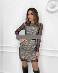 Платье короткое нарядное А59118