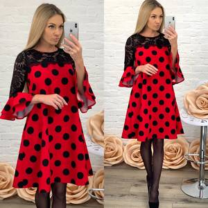 Платье короткое коктейльное красное Ф5214