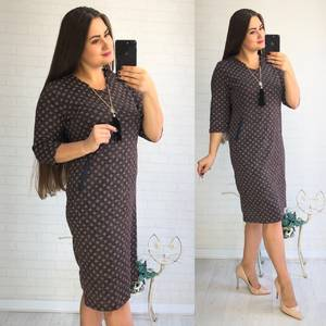 Платье короткое нарядное с принтом Ф1431