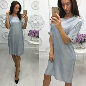 Платье короткое нарядное однотонное Ф6025