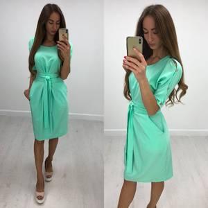 Платье короткое нарядное однотонное Ф1377