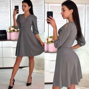 Платье короткое коктейльное однотонное Ф5818