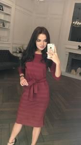Платье короткое с рукавом 3/4 современное Ф5318