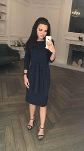 Платье короткое с рукавом 3/4 современное Ф5320