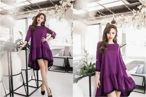 Платье короткое нарядное однотонное Ф6037