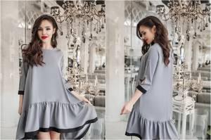 Платье короткое нарядное однотонное Ф6039