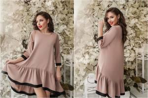Платье короткое нарядное однотонное Ф6040