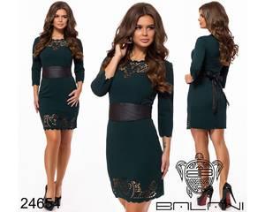 Платье короткое нарядное черное Х4593