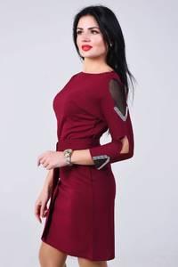 Платье короткое с рукавом 3/4 облегающее Х8372