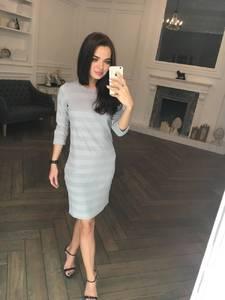 Платье короткое с рукавом 3/4 классическое Ф5324