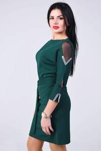 Платье короткое с рукавом 3/4 современное Х8373