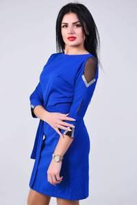 Платье короткое с рукавом 3/4 современное Х83745