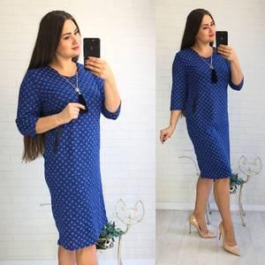 Платье короткое нарядное с принтом Ф1432