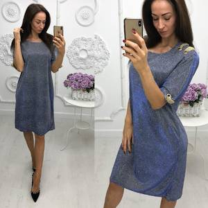 Платье короткое нарядное однотонное Ф6026
