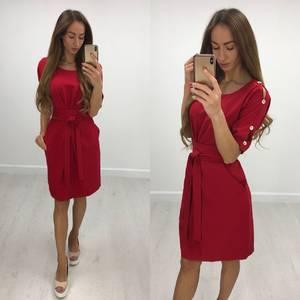 Платье короткое нарядное однотонное Ф1378