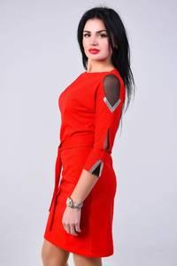 Платье короткое с рукавом 3/4 современное Х8376