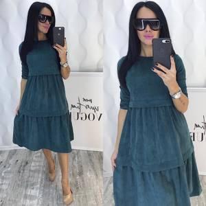 Платье короткое нарядное однотонное Ф5383