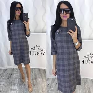Платье короткое деловое Ф5384