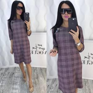 Платье короткое деловое Ф5385