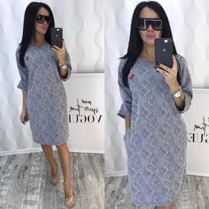 Платье короткое деловое Ф5386