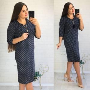 Платье короткое нарядное с принтом Ф1433