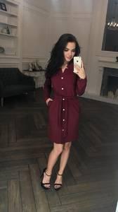 Платье короткое с длинным рукавом классическое Ф5310