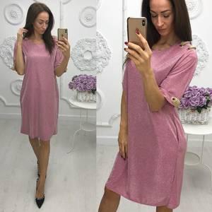 Платье короткое нарядное однотонное Ф6027