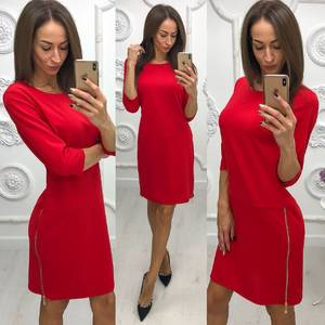 Платье короткое нарядное с рукавом 3/4 Ф1120