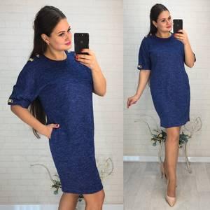 Платье короткое нарядное однотонное Ф6028