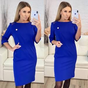 Платье короткое нарядное синее Х4617
