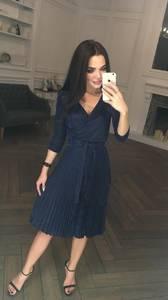Платье короткое коктейльное с рукавом 3/4 Ф5312