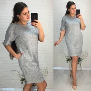 Платье короткое нарядное однотонное Ф6029