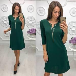 Платье короткое нарядное с рукавом 3/4 Ф1122