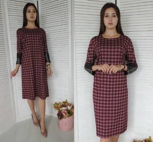 Платье короткое нарядное с принтом У9825