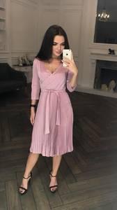 Платье короткое коктейльное с рукавом 3/4 Ф5313
