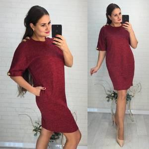 Платье короткое нарядное однотонное Ф6030