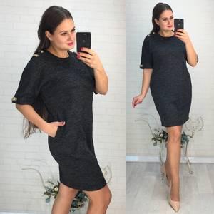 Платье короткое нарядное однотонное Ф6031