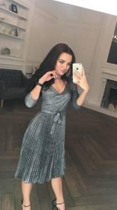Платье короткое коктейльное с рукавом 3/4 Ф5314