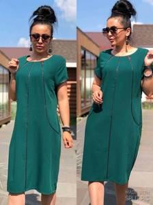 Платье короткое летнее зеленое У9828