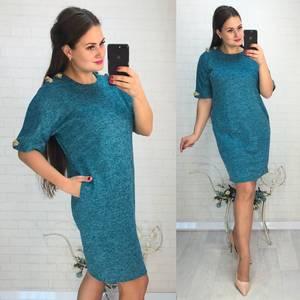 Платье короткое нарядное однотонное Ф6032