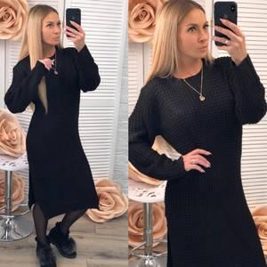 Платье длинное черное Ф2982